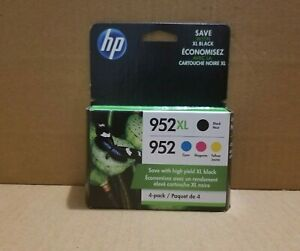 4-PACK HP INK GENUINE 952XL Black & 952 Color  OFFICEJETPRO 8710  NEW EXP 2022.