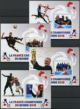 More details for madagascar 2018 mnh world cup football russia france winners 4x 1v s/s stamps