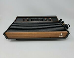Atari 2600 (CX-2600 A) Console Only Wood Grain 4 Switch CLEANED TESTED & WORKING