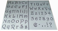 Numbers letter Alphabet plastic stencil vintage shabby chic calligraphy style