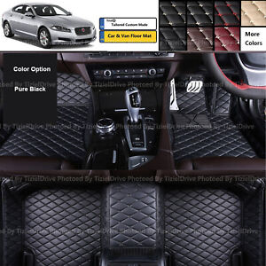 Full Coverage Custom Made PU Leather Car Floor Mat Set Carpets for LBW Saloon
