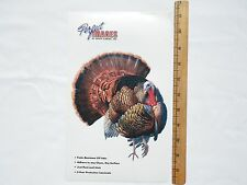 TURKEY WILDLIFE BIRD HUNTING DECAL STICKER AL AGNEW - REVERSE IMAGE AVAILABLE