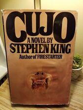 Cujo by Stephen King 1983 1st Edition 1st Printing (40 Address) HB DJ GC!!