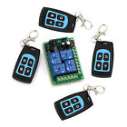 DC12V 10A 4CH Receiver 4 Key RF Wireless Remote Fixed/Learning Code 315MHz