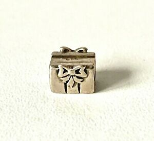Solid Sterling Silver PRESENT Bead Charm