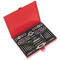Sealey Tap & Die Set 40pc Split Dies Metric Wrench Thread Gauge Professional Use