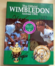 Multi Signed to Dj+ Edburg inside Wimbledon Annual ,92 Inc.Agassi Taylor, (8)