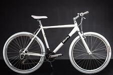 "28"" Zoll Crossbike Alu MIFA Herren Fahrrad MTB Shimano 21 Gang weiss"