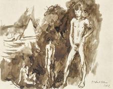 Pavel Tchelitchew Three Youths Nude Canvas Print 16 x 20    #4635