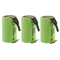 Kastar 3 Pcs 2/3A Size 1.2V 1600mAh Ni-MH Rechargeable Batteries W/ Tabs