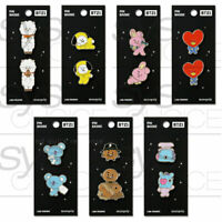 BTS BT21 Official Authentic Goods Pin Badge 7Characters By Monopoly + Tracking #