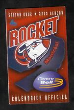 Montreal Rocket--2002-03 Pocket Schedule--QMJHL