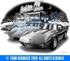 "CORVETTE 1973 BIG BLOCK COUPE MUSCLE CAR ART PRINT #1070 ""FREE USA SHIPPING"""