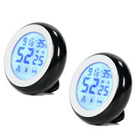 2PCS Digital Cooking Timer Touchscreen LCD Thermometer Hygrometer Kitchen Alarm