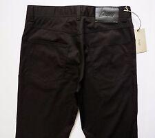 $600 BRIONI Classic Black Brushed Cotton Jeans Pants Trousers Size 36 US 52 Euro