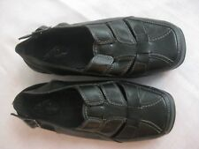 Easy Street Comfort Wave Slingback Casual Black  40-2541 Shoes Women's Sz 9W