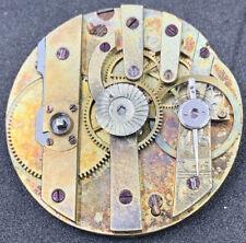 KeyWind Cylinder Pocket Watch Movement 31 Mm Swiss Antique Ticking F4786