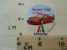 STICKER,DECAL FERRARI F40 LE MANS ITALERI