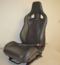 Recaro Sportster CS Tailored Fitted Black Car Seat Covers x2 Corsa VXR Megane RS