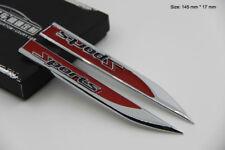 B265 une paire Sport Rouge Emblème autocollants voiture badge Car Emblem auto