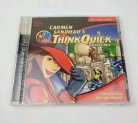 Carmen sandiego think quick 1999 CD-rom game challenge disk computer pc