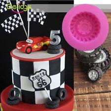 Tires Wheel Cartoon Fondant Mold Silicone Sugarcraft Cake Decorating DIY Mould
