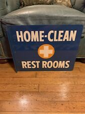 Shell Restroom Flange Double Sided Gas Oil Advertising Sign
