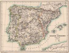 Map Of Spain 1500.Antique European Maps Atlases Spain 1500 1599 Date Range For Sale