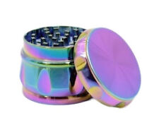 Drum Shaped 2.25 Inches 4 Layers Tobacco Spice Herb Grinder In Iced Blue Color