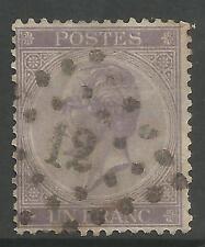 Bélgica. 1865. 1fr Lila, Perf 14-1/2 X 14. Sg: 33. Fine Used.
