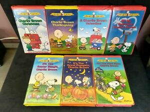 Charlie Brown Peanuts Classic TV Special Clamshell VHS Tapes - Pick Your Video!