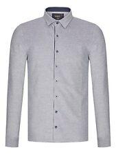 Remus Uomo Jersey Slim Fit Shirt/Blue Grey Chambray - XX Large SRP £55.00