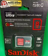 San Disk Ultra 8GB Micro SDHC UHS-1 Card With SD Adapter