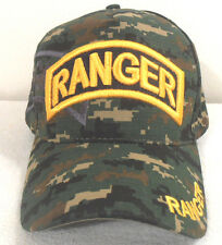 MILITARY CAP UNITED STATES ARMY RANGER CAMOUFLAGE HAT WITH SHADOW