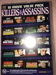 Killers & Assassins 10 Movie Value Pack DVD 4-Disc Set Sent Tracked Post As New