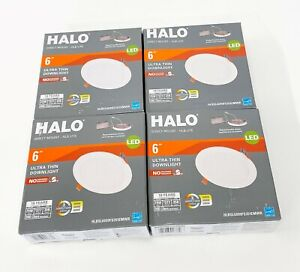 Lot of 4 Halo 6in LED Ultra Thin Downlight Color Selectable HLBSL6099FS351EMWR