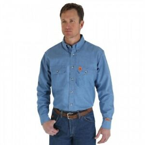 NEW Wrangler Men's Long Sleeve Flame Resistant Riggs Workwear Work Shirt BIG&TAL