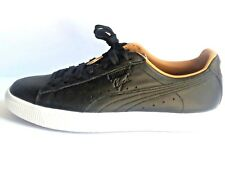 Puma Black Leather Women Sz 10