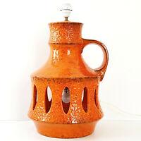 Important Lamp - Floor Ceramic Orange 1970 Space Age 70s 70'S 70s