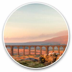 2 x Vinyl Stickers 7.5cm - Ribblehead Viaduct Yorkshire England Cool Gift #15899
