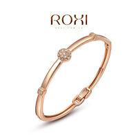 Women's Fashion 18K Rose Gold Plated Austrian Crystal Bracelet Bangle Jewelry