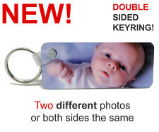 Double Sided Personalised Photo Keyring - Premium Quality