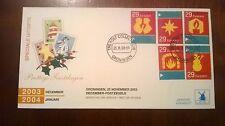 FDC Philato W155-4 Decemberzegels blanco open klep