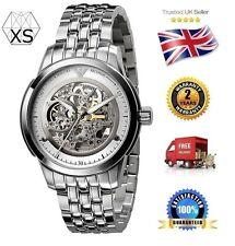 New Mens Emporio Armani AR4626 Meccanico Polished Steel Watch -- FREE WARRANTY!!