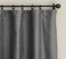 Pottery Barn Silk Dupioni Drape Pole Top With Blackout Lining New - 104 x 84
