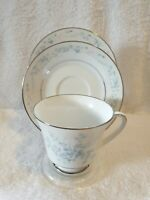 NORITAKE CAROLYN 2693 TRIO FOOTED CUP SAUCER SIDE PLATE BEAUTIFUL CONDITION