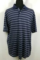 Callaway Mens XXL Short Sleeve Casual Golf Rugby Lightweight Polo Shirt Blue