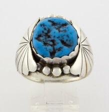 Size 11, Kingman Turquoise Ring By Navajo Artist Anna Spencer