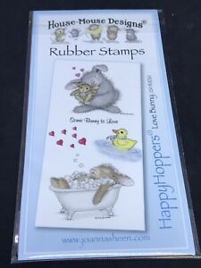 Joanna Sheen House Mouse unmounted stamps - Happy Hoppers Love Bunny rabbits