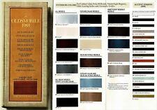 1988 Oldsmobile Cutlass Calais 88 98 Toronado Factory Paint Chips Brochure